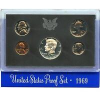 1969 S PROOF SET UNITED STATES US MINT ORIGINAL GOVERNMENT PACKAGING BOX