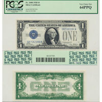1928 $1 SILVER CERTIFICATE FR1600 PCGS CURRENCY CERTIFIED CHOICE NEW 64PPQ