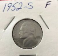 1952 S 5C JEFFERSON NICKEL