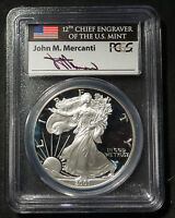 PCGS 2001W PR70 DCAM SILVER EAGLE PROOF WITH MERCANTI SIGNATURE