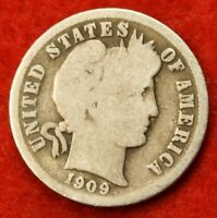 1909 P BARBER / LIBERTY HEAD DIME G COLLECTOR COIN GIFT CHECK OUT STORE BD279