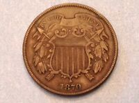 -UNITED STATES  1870 TWO 2 CENTS