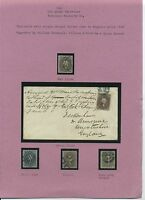 US 1861-69 24C USED SHADE STUDY COMPLETE WITH STEEL GRAY 70B CAT $28,000