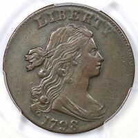 1798 S-169 R-3 PCGS VF 30 2ND HAIR STYLE DRAPED BUST LARGE CENT COIN 1C