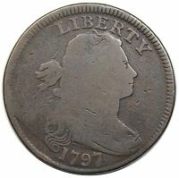 1797 DRAPED BUST LARGE CENT, REVERSE OF '97, STEMS, S-139,  G