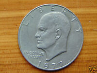 VINTAGE 1977 DWIGHT D EISENHOWER ONE DOLLAR COIN  COLLECTOR COIN