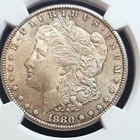 1880 S UNITED STATES MORGAN SILVER DOLLAR BEAUTIFUL GEM MS 63  NGC GREAT TONING