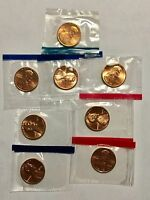 1980 1984 1985 1987 US MINT SEALED LINCOLN MEMORIAL CENTS PENNY SEE DETAILS