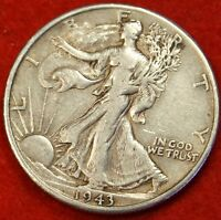 1943-D WALKING LIBERTY HALF DOLLAR EXTRA FINE  BEAUTIFUL COIN CHK OUT STORE WL218