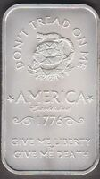 1776 DON'T TREAD ON ME  ONE TROY OUNCE .999 FINE SILVER  RR 215