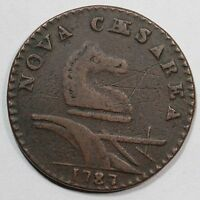 1787 33 U R 4 NEW JERSEY COLONIAL COPPER COIN