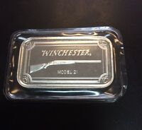 WINCHESTER MODEL 21 DOUBLE-BARREL SHOTGUN 1 OZ .999 FINE SILVER ART BAR