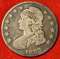 1833 CAPPED BUST HALF DOLLAR VG SILVER  COIN GREAT COLLECTOR GIFT CB03