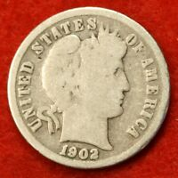 1902 P BARBER / LIBERTY HEAD DIME G COLLECTOR COIN GIFT CHECK OUT STORE BD244