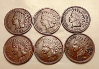1887/1891/1895/1896/1898/1899 INDIAN CENTS   NICE LOOKING COINS