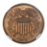 1873 CLOSED 3 TWO CENT PIECE 2C NGC PR67RB