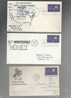 US FIRST DAY COVER FDC  926 MOTION PICTURE 1944 LOT OF 3