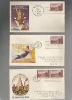 US FDC  FIRST DAY COVER  944 NEW MEXICO 1946  LOT OF 3  PATRIOTIC WWII