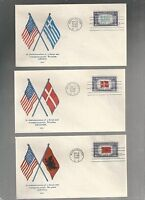 US FDC FIRST DAY COVERS COLLECTION LOT OF 7 OVERRUN NATIONS 1943 BY WMG