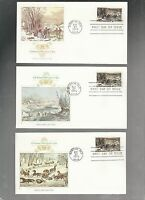 US FDC FIRST DAY COVERS  CHRISTMAS 1976  LOT OF 8 FLEETWOOD CURRIER IVES COMBO