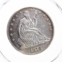 1879 SEATED LIBERTY 50C PCGS CERTIFIED XF DETAILS CLEANED KEY DATE 4800 MINTAGE