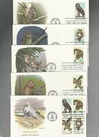 US FDC FIRST DAY COVER   1760 1763 OWLS BIRDS 1978 SET  OF 5  BY FLEETWOOD