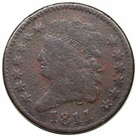 1811 CLASSIC HEAD HALF CENT  DATE C 2 R.3 VG DETAIL
