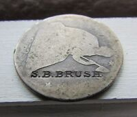 COUNTERSTAMP S.B. BRUSH   1853 O SEATED LIBERTY HALF DOLLAR