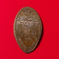 AGGIE 1/2 CENT IN A&M WE TRUST 1876 TEXAS TX ELONGATED 1970 COPPER PENNY COIN