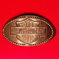 HARLEY DAVIDSON MOTORCYCLES LOGO ELONGATED 1970 COPPER PRESSED PENNY COIN