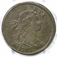 1797 S-134 PCGS VF 35 REV OF 1797, STEMS DRAPED BUST LARGE CENT COIN 1C