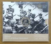 2014 FIRST WORLD WAR 100TH ANNIVERSARY OUTBREAK BU 2 TWO POUND COIN PACK UK