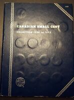 1920 1996 CANADA 1 CENT PENNY COLLECTION IN BLUE WHITMAN FOLDER WITH SEMI KEYS