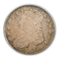 1830 50C SMALL 0 CAPPED BUST HALF DOLLAR PCGS MS66 CAC