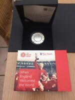 1966 FIFA WORLD CUP SILVER PROOF 5 COIN ROYAL MINT C.O.A. SUPERB