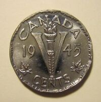 CANADA   5 CENTS 1945   COIN