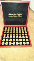 56 GOLD & SILVER HIGHLIGHTED U.S. STATEHOOD QUARTERS 1999 2009