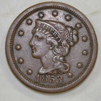 1853 LARGE CENT PENNY