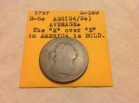 1797 DRAPED BUST - S-129, R5 - LARGE CENT