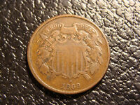 1869 TWO CENT PIECE FINE WE COMBINE ON SHIPPING
