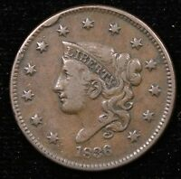 1836 LARGE CENT N3    VF