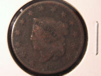 1829 CIRCULATED CORONET LARGE CENT