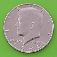 1980 P 50C KENNEDY HALF DOLLAR   MINT CONDITION   FREE DOMESTIC SHIPPING