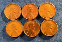 LOT OF 6 EARLY LINCOLN CENTS QUALITY VG 1909 1909VDB 1912D 1913D 1915D 1915S