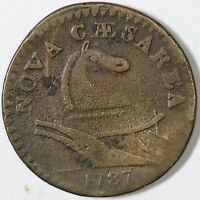 1787 43 D SMALL HEAD NEW JERSEY COLONIAL COPPER COIN
