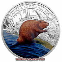 CANADA 2015 $20 FINE SILVER COIN   BEAVER AT WORK