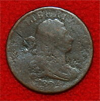 1804 HALF CENT DRAPED BUST STEMLESS WREATH - ONLY 1,055,312 MINTED