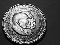 CIRCULATED 1952P WASHINGTON CARVER SILVER COMM HALF FREE S/H 123