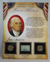 2007 P & D BU JAMES MADISON PRESIDENTIAL DOLLAR $1 SET 2 COINS W/ STAMP CB226