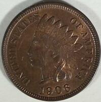 1906  INDIAN HEAD CENT -  BU  A LOT OF MINT LUSTER REMAINING. - RB
